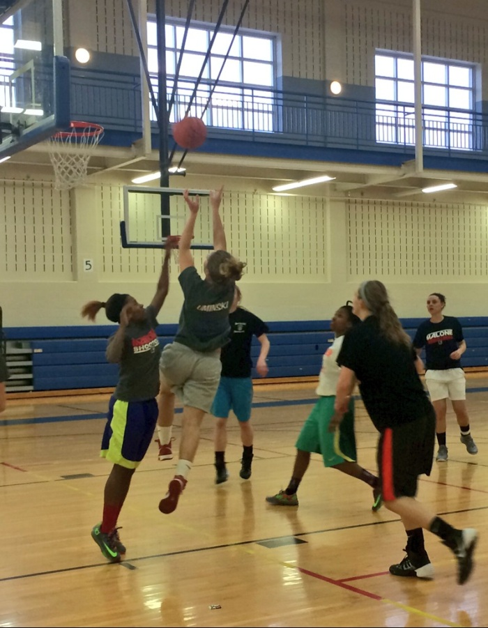 Katie Uminski is always working hard, the D2 District 4 Play of the Year gets off the floor here.